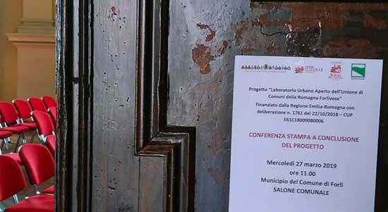 Conferenza stampa di chiusura Laboratorio Urbano dei Comuni della Romagna Forlivese