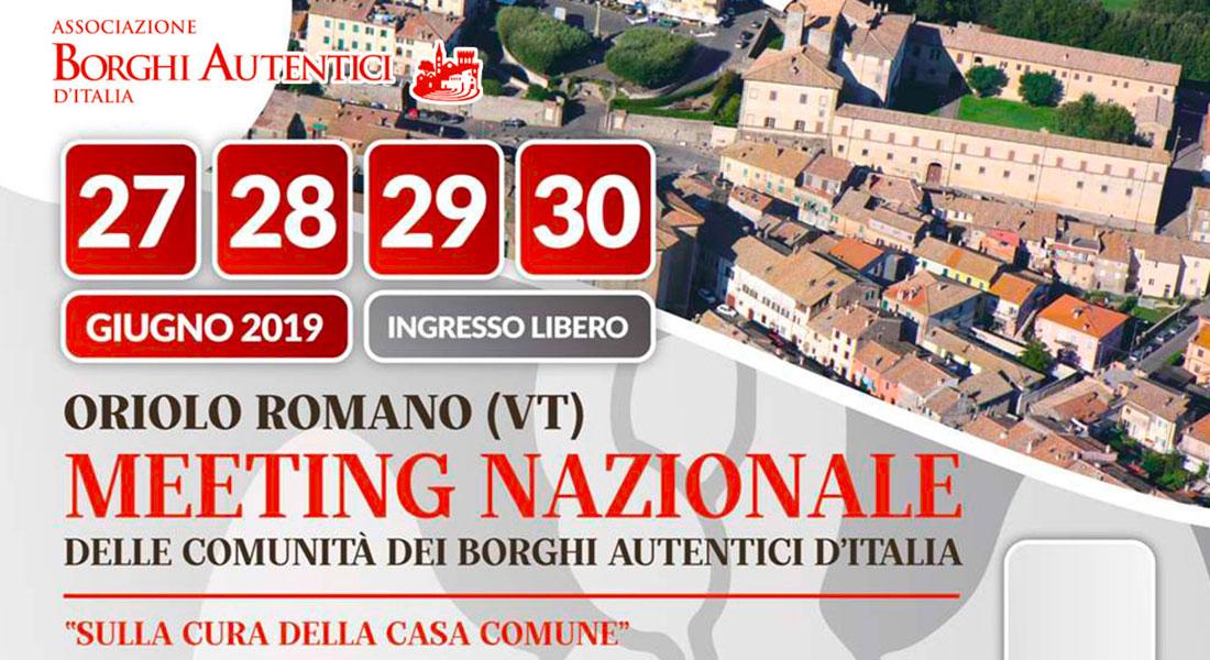 Meeting Nazionale delle comunità dei Borghi Autentici d'Italia 2019